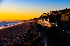 Coastal Commute (BravoDelta1999) Tags: amtrak amtk pacific surfliner metrolink scax orangecounty inlandempire line atchisontopekaandsantafe atsf santafe railroad railway sanclemente pier california train 606 mpi mp36ph 902 surfline