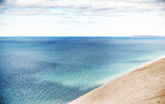 Sleeping Bear Dunes. Lake Michigan (paulh192) Tags: water greatlakes michigan lakemichigan sand sanddune sleepingbeardunes landscape sony voightlander5011noct beach
