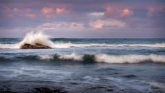 Wave Study #4 (david.travis) Tags: unitedkingdom goldenhour northumberland england landscapephotography wave coast slow budlebay sea coastline seashore
