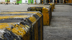 Safety park kerbs (Theen ...) Tags: roadrules highrise hongkong stripes theen lumix residential children safety grit grunge bicycle learn square black park shatin yellow flats kerb