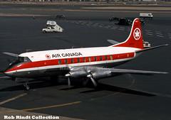 Air Canada Vickers 757 Viscount CF-TIC (planepixbyrob) Tags: aircanada canada prop tca vickersviscount viscount cftic bos boston logan retro kodachrome