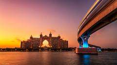 Atlantis Regained (Neha & Chittaranjan Desai) Tags: atlantis dubai uae travel city cityscape sunset twilight dusk architecture sea metro long exposure