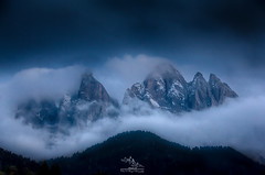 Misty Hugs (ESTjustPHOTO - Elias S Tilavgi) Tags: landscape landscapephotography landscapes scenery blue hour dolomites val di funes italy travel photography