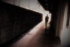 alley (Sat Sue) Tags: flickrfriday alley olympus micro four thirds m43 penf japan fukuoka silhouette shadow