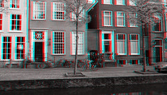 Gracht Delft 3D (wim hoppenbrouwers) Tags: gracht delft 3d anaglyph stereo redcyan canal