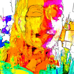 a dreamed kiss (j.p.yef) Tags: peterfey jpyef yef digitalart people girl youngwoman abstract abstrakt square