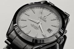 Fake ! (phileveratt) Tags: macromondays fake omega watch blackwhite monochrome seamaster