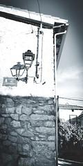 La calle de Enmedio. (Elena m.d. 12.8 M views.) Tags: tamajón guadalajara españa castilla pueblo rural shadows monocromo new 2019 street vertical