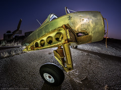 These broken wings (Nocturnal Bob) Tags: airplane abandoned airfield canopy long exposure full moon sony a7r lightpainting light painting protomachines radium led6 samyang 12mm f28 ed as ncs fisheye