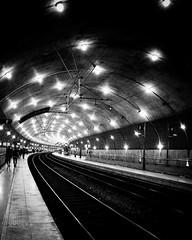 GLIMMERING (bhs-photo) Tags: bnw noiretblanc monochrome schwarzweis monaco station gare lightandshadow street leicaq leica