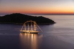 Dream cruise (Sizun Eye) Tags: dubrovnik cruise croatia boat island lokrum adriatic sea illuminantion voyage travel octobre sunset sizuneye sony7rm2 sony le longexposure