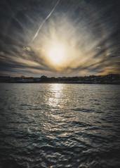 Halo (RTA Photography) Tags: halo nature weather clouds sky goodrington paignton devon torbay rtaphotography nikon d750 tamron2470mmf28vcusd autumnsun contrail sea water light