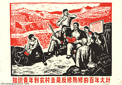 To send educated youth to the rural villages is a project of vital and lasting importance to oppose and combat revisionism (chineseposters.net) Tags: china poster chinese propaganda 1968 peasant book sentdownyouth xiafangqingnian 下放青年 zhiqing 知青 rusticatedyouth terrace pickaxe towel tea