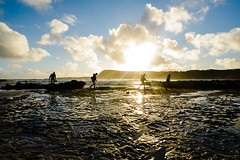 Going Home (OzGFK) Tags: australia d800 nikon phillipisland smithsbeach beach nature ocean sea shore fishermen fishing goinghome surffishing sunset dusk evening catchoftheday silhouette facingthesun