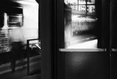 Ghost Train (paulo josé abrantes) Tags: street photography blackandwhite bw train trainstation mood slowshutter analogue film ilford sfx200 carlzeiss