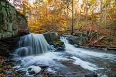 Falls of Black Creek in October (jeffseverson) Tags: hudsonvalley johnburroughs johnburroughsnaturesanctuary landscape longexposure newyork upstateny autumn creek fall nature water waterfall