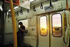 The sun setting (しまむー) Tags: pentax mz3 smc a 28mm f28 kodak gold 200 北海道&東日本パス 普通列車 local train trip east japan