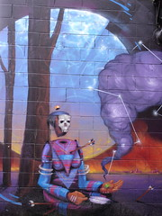 Burlington Disembodied Head Street Art (Jay Costello) Tags: burlington vermont burlingtonvermont vt street art grafitti colorful headless disembodied purple blue
