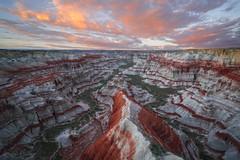 Candy Land (Willie Huang Photo) Tags: canyon southwest monsoon virga sunset striations red white spring arizona utah landscape scenic nature sandstone
