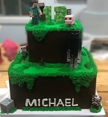 IMG_0481 (backhomebakerytx) Tags: backhomebakery back home bakery texas texasbakery cake minecraft birthdaycake two tier twotier videogame video game mine craft