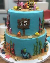 IMG_0328 (backhomebakerytx) Tags: backhomebakery back home bakery texas texasbakery cake twotier two tier birthdaycake birthday spongebob sponge bob square pants