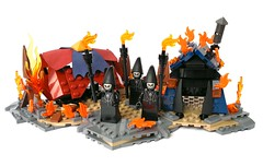 Lego - Harry Potter and the Goblet of Fire (flambo14) Tags: harry potter moc scene hogwarts mystery vignette dementor bricks rowling magic warner brothers battle wand art figure minifigures movie azkaban lake goblet fire death eaters dark wizard lord voldemort