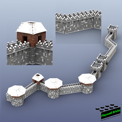 Winterfell Walls - WIP 5 Walls Con't (Playwell Bricks) Tags: lego legotechniques legoideas legophotography legopictures legoart legofun gameofthrones gameofthroneslego winterfell moc toys toyphotography