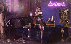 L317 (JoJo Delvalle - Photographer & blogger) Tags: secondlife sl game virtual doll 3d cute purple witch halloween magic spell catwa glamaffair doux vtech belleposes rezzroom minimal astralia foxcity thearcade treschic collabor88 foxcitychallenge5