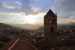 The bell tower (deus77) Tags: san francisco francis bell tower backlight sunset city view cityscape panorama landscape church monastery convent assisi asis potosi potosì bolivia south america