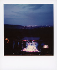 String Cheese Incident Twilight (tobysx70) Tags: polaroid originals color 600 instant film slr680 string cheese incident twilight red rocks amphitheatre west alameda parkway morrison denver county colorado co stage lighting smoke dusk cityscape motion blur long exposure music gig concert jamband polaradoone polarado 072018 toby hancock photography