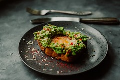 Avocado bread cuisine - Credit to https://homegets.com/ (davidstewartgets) Tags: avocado bread cuisine cutlery delicious dining dinner epicure food fork healthy hot lunch meal meat mouthwatering plate silverware still life tasty toast vegetable yummy