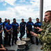 U.S. Sailors discuss best boarding practices during a VBSS workshop with Royal Brunei Armed Forces