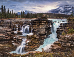 Athabasca Falls (Antoni Figueras) Tags: athabasca falls alberta jasper nationalpark rockies rockymountains landscape waterfall outdoors nopeople scenic mountains flowingwater touristicdestination canada beautyinnature travel stream rocks antonifigueras sonya7riii sony1635f4 panorama longexposure