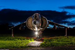 Pegasus Roar (Articdriver) Tags: royalairforce raf aircraft harrier jumpjet xv808 shropshire night field fighter jet autumn dusk