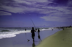 Fisherman. (Capitancapitan) Tags: fish fisherman ocean sea beach photo photography people sand life enjoy peace love colors street instagram youtube facebook