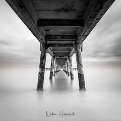 To the Point (Nathan J Hammonds) Tags: deal kent uk sea seascape pier coast water long exposure nd filter nikon lee d750 10stop perspective mono black white monochrome movement