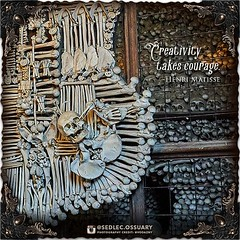 """""""Creativity takes courage."""" -Henri Matisse⠀ .⠀ It does indeed! And it's so rewarding when taking that step of courage results in great things. . Kickstarter has just made us a featured """"Project We Love"""" on their website. Thank you Kickstarter!! . If you h (Sedlec Ossuary Project) Tags: sedlecossuaryproject sedlec ossuary project sedlecossuary kostnice kutnahora kutna hora prague czechrepublic czech republic czechia churchofbones church bones skeleton skulls humanbones human mementomori memento mori creepy travel macabre death dark historical architecture historicpreservation historic preservation landmark explore unusual mechanicalwhispers mechanical whispers instagram ifttt"""