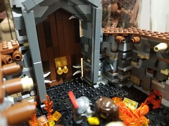 WIP - Arena Door Detail Shot (Flounder's Bricks) Tags: rome roman support beams fear champion rival challenger