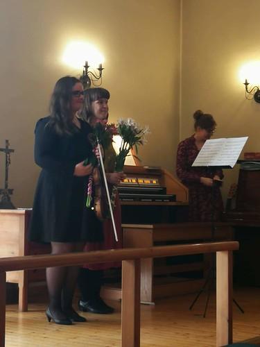 Helin Pihlap (viiul) ja Kaisa Kuslapuu (orel) Tartu Maarja Kogudusemajas