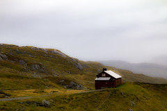 A Home in the Hills (langdon10) Tags: countryside mountains norway cabin clouds mist rain rock