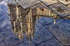 riflesso piazza duomo - reflected cathedral square (Eugenio GV Costa) Tags: approvato acqua riflesso mirror tower water strada street piazza cathedral duomo pozzanghere puddles square