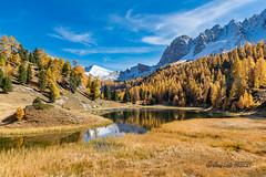 Lac Miroir - Ceillac (jean-louis21) Tags: queyras lac miroir lake fall colors automne automn montain bleu sky snow neige montagne ciel alpes