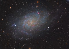 M33 - Triangulum (RBG) (DeepSkyDave) Tags: astrophotography astrofotografie astronomy astronomie night sky nacht himmel stars sterne deepsky cosmos kosmos natur nature long exposure langzeitbelichtung low light astrodon