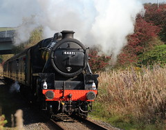 LMS Stanier Class5MT 4-6-0 Br 44871 (Black Five) (jdathebowler Thanks for 4.5 Million + views.) Tags: steamengine steamtrain railway railwaytracks railwayline railways steamlocomotive black5 steamtransport lmsstanierclass5 powerclass460 steamdriven steampassengertrain