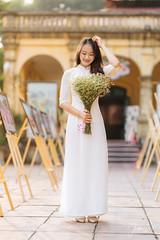 Kỷ Yếu 2019 (SuBinZ) Tags: blue portrait dress girl gái young lady vietnam vietnamese flickr flickrcom beauty tree park grass road rain bokeh light long hair áo dài sony a7r4 a7riv 85 art