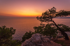 Sea Sunset (gubanov77) Tags: nature sunset sea crimea blacksea dusk twilight nightfall tourism october goldenhour ayazma nationalgeographic travelphotography travel landscape afterglow