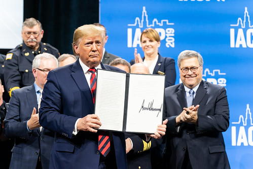 President Trump Delivers Remarks at the IACP, From FlickrPhotos