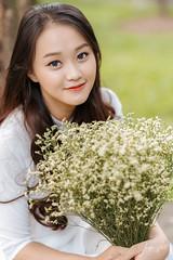 Kỷ Yếu 2019 (SuBinZ) Tags: red blue portrait dress girl gái young lady vietnam vietnamese flickr flickrcom beauty tree park grass road rain bokeh light long hair áo dài sony a7r4 a7riv 85 art