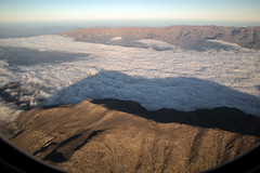 Temperature inversion on descent into Santiago, Chile. (XPC1217) Tags: chile andes temperatureinversion canonm6 clouds mountains