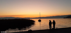 Expectation (borisnaumoski) Tags: ohrid macedonia lake sunset shore october autumn people nature